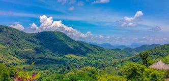 老挝琅勃拉邦Nahm东公园 免版税库存图片