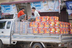 老挝琅勃拉邦TRANPORT 库存照片