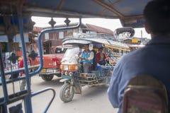 老挝琅勃拉邦TRANPORT TUK TUK 库存图片