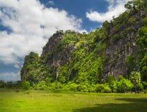 老挝的小山。 免版税库存照片