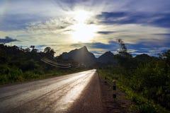老挝的路。 库存照片