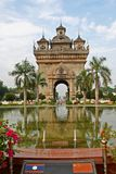 老挝纪念碑 库存图片