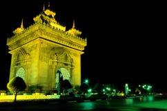 老挝纪念碑patuxay万象 图库摄影