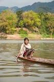 老挝航行妇女 免版税库存图片