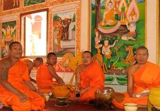 老挝:在圣洁stupa的Monastry那Luang在首都Vien 库存照片