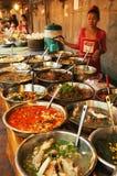 老挝:食物Streetmarket在琅勃拉邦 库存图片