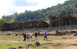 老挝:高棉寺庙和世界遗产大桶Phou在巴色附近 免版税库存照片