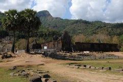 老挝:高棉寺庙和世界遗产大桶Phou 免版税库存图片