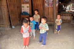 老挝hmong孩子 免版税库存图片