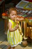 老挝hmong孩子 免版税库存照片