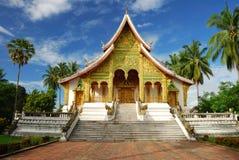 老挝luang博物馆prabang寺庙 免版税库存照片