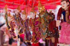 老挝luang市场prabang 免版税库存照片