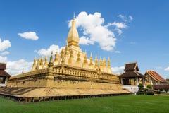 老挝luang pha寺庙万象 图库摄影