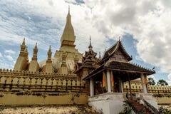 老挝luang pha寺庙万象 库存图片