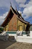 老挝luang prabang寺庙皮带xieng 库存图片
