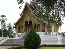 老挝luang prabang寺庙 图库摄影