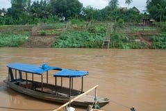 老挝luang prabang河 免版税库存图片