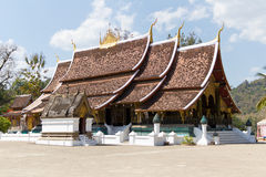 老挝luang prabang皮带wat xieng 库存照片