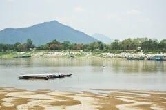 老挝mekongr河sanakham 免版税库存照片