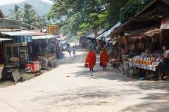老挝People& x27; s民主共和国,琅勃拉邦- 5月7日: 免版税库存图片
