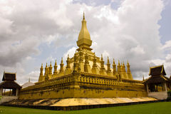 老挝thadluang万象 图库摄影