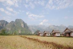 老挝van vieng 免版税图库摄影
