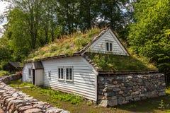 老挪威房子 图库摄影