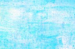 老损坏的破裂的油漆墙壁,难看的东西背景,蓝色颜色 免版税库存图片