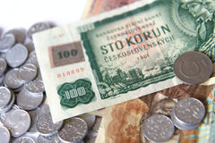 老捷克货币 图库摄影