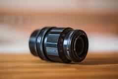 老摄象机镜头标号关闭 库存照片