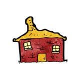 老摇摇欲坠的房子动画片 库存照片