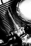 老摩托车引擎  免版税库存图片