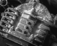 老摩托车引擎 库存照片