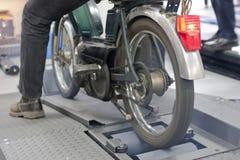 老摩托车 免版税库存图片