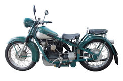 老摩托车 免版税库存照片