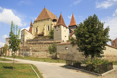 老撒克逊人被加强的教会堡垒  免版税库存照片