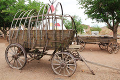 老支架。木无盖货车 免版税库存图片