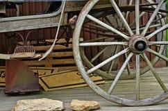 老支架轮子细节 库存图片