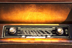 老收音机 免版税库存图片