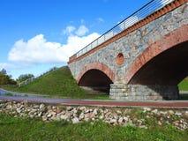 老改建火车桥梁,立陶宛 免版税库存图片