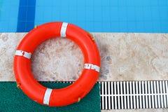 老救生带、安全设备、救生圈或者抢救浮体 从淹没人的抢救人 免版税库存图片