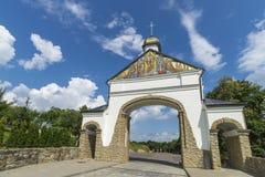 老教会侧视图  19个世纪建筑学的纪念碑  西部乌克兰 Goshev 免版税库存图片