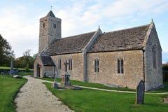 老教会和墓地 库存图片