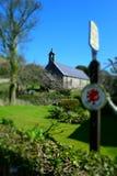 老教会在北部威尔士 库存图片
