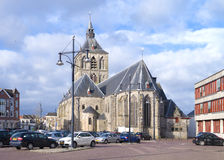 老教会在奥尔登扎尔,荷兰 免版税库存图片