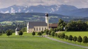 老教会在巴伐利亚,德国 库存照片