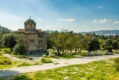 老教会在雅典 免版税库存图片
