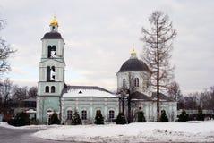 老教会在Tsaritsyno公园在莫斯科 免版税库存图片