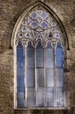 老教会窗口在Levenshulme曼彻斯特 免版税图库摄影