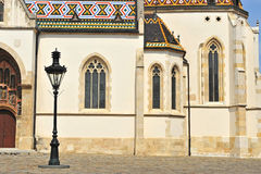 老教会细节在萨格勒布 免版税库存图片